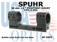 SPUHR 30 mm PICATINNY MOUNT 0MIL/0MOA - 1.5""
