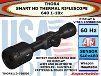 ATN ThOR 4 640 1-10x SMART HD THERMAL RIFLESCOPE
