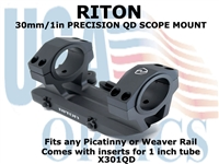 RITON 30mm/1in PRECISION QD SCOPE MOUNT
