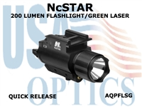 200 Lumen Flashlight / Green Laser Combo: APQFFLSG