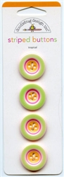 Tropical Striped Buttons 01316 from Doodlebug Design Inc.