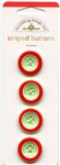 Christmas Striped Buttons 01328 from Doodlebug Designs Inc.