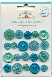 Swimming Pool Assortment Boutique Buttons 02476 from Doodlebug Designs Inc.