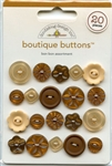 Bon Bon Brown Assortment Boutique Buttons 02480 from Doodlebug Designs Inc.