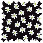 Sun-Kissed White Daisies Black 03329-12 from Benartex