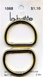 Gold D Rings La Petite #1068 from Blumenthal Lansing Co.