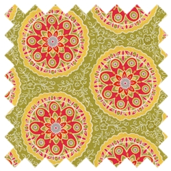 High Street Floral Circles 11472-15 Sage from Moda