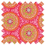 High Street Floral Circles 11472-18 Dark Pink for Moda