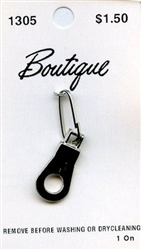 Silver Hole Zipper Pull Boutique #1305 from Blumenthal Lansing Co.