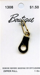 Gold Hole Zipper Pull Boutique #1308 from Blumenthal Lansing Co.