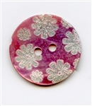 Etched Flower Pink 14418-32-P from Renaissance Buttons