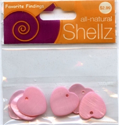 "3/4"" Pink Heart Buttons All-Natural Shellz #1848 from Blumenthal Lansings"