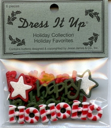 Holiday Favorites Flat Back Holiday Collection Dress It Up #2488 from Jesse James