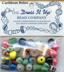 Caribbean Brites Glass Beads Dress It Up #2509 from Jesse James