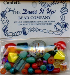 Confetti Glass Beads Dress It Up #2515 from Jesse James