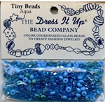 Tiny Glass Beads Aqua Dress It Up #2564 from Jesse James
