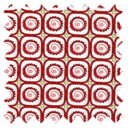 St. Ives Flower Blocks Red 30445-80 from Lecien