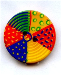 Summer Fun Beach Ball Button 320614 from Dill Buttons