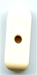 Rectangle Tube Polyamid Button 350392-White Dill Buttons of America