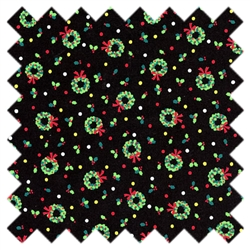 Christmas Wreaths 3704 Black from Lecien