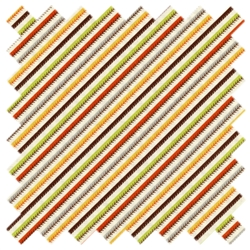 S'More Love Diagonal Stitch Stripe 37078-11 Grizzly Bear Marshmallow from Moda
