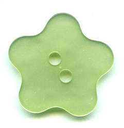 Flower Polyester Button 420043-Green Dill Buttons of America