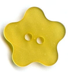 Flower Polyester Button 420045-Yellow Dill Buttons of America