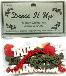 Warm Wishes Flat Back Holiday Collection Dress It Up #476 from Jesse James