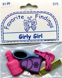 Girly Girl Button & Flat Backs Favorite Findings #575 from Blumenthal Lansing Co.