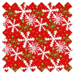 It's Christmas Multi Snowflake 7JHF1 Red In the Beginning