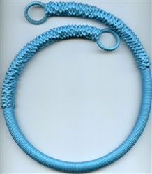 Colors Abaca Rope Handle Turquoise #BGH-307R1 from The Button Company