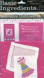 Basic Ingredients Celebration Dishtowel Kit  Celebrate #BI-CEKT from Wimpole Street Creations