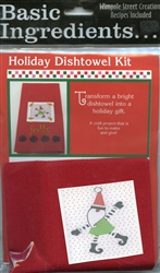 Basic Ingredients Holiday Dishtowel Kit Jolly #BI-Jokt from Wimpole Street Creations