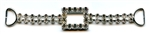Rhinestone Silver Buckle CT-339 The Button Company