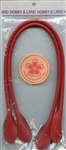 "Red Leather Purse Handles 20"" from Hobby and Land"