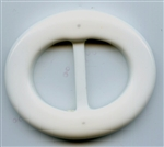 Plastic Belt Buckle R-BK3780 White