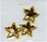 Sequined Applique Stars Gold SM2963 from Expo International