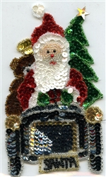 Sequined Applique Santa On The Go SM793S from Expo International
