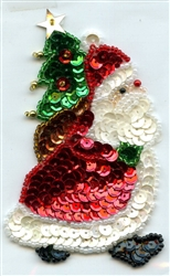 Sequined Applique Here Comes Santa SM980S from Expo International