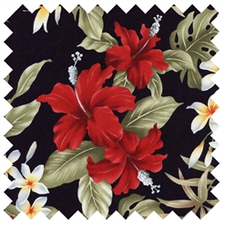 Hibiscus Plumeria Hawaiian Flowers TX-13-30 Black from Trans-Pacific