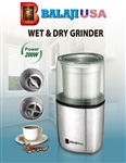 BalajiUsa Wet and Dry Grinder with 2 Stainless Steel Jars