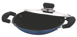 Vinod Cookware Blue Aluminium Appachetty With Lid-ZAPP_VS