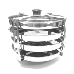 4-Rack Dhokla Stand Stainless Steel
