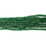 "Emerald beads (3-4mm)size,   16"" Length"