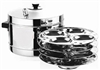 Stainless Steel Idli Cooker with Plates 4 Plates