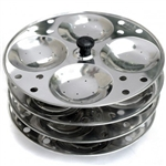 Stainless Steel Idli Stand 4 Plates for 16 Idlis