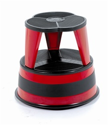 Kik-Step Red Rolling Step Stool