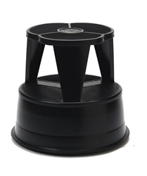 Kik-Step Black Rolling Step Stool