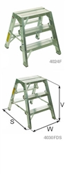 "Stokes 24"" Double Sided Aluminum Folding Step Stool"