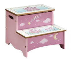 Princess Kids Storage Step Stool